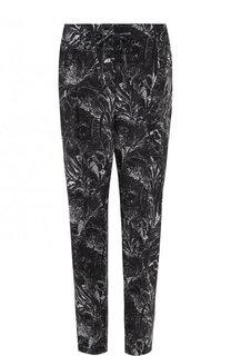 Укороченные шелковые брюки с принтом Windsor
