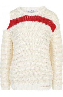 Хлопковый пуловер свободного кроя с разрезом на плече Iro