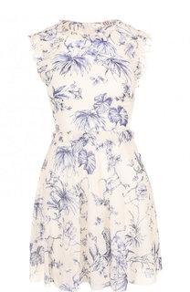 Приталенное шелковое мини-платье с принтом REDVALENTINO
