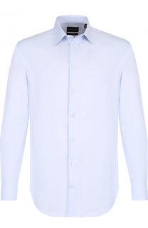 Хлопковая сорочка с воротником кент Emporio Armani