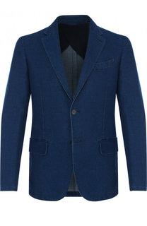 Однобортный хлопковый пиджак Ermenegildo Zegna