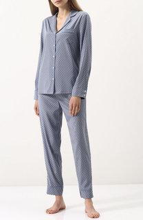 Шелковый костюм в пижамном стиле в горох Stella McCartney