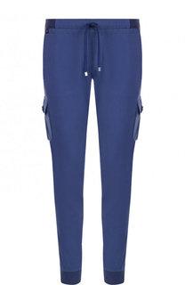 Хлопковые брюки-карго с поясом на резинке Capobianco