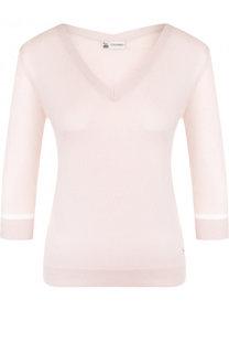 Пуловер из смеси кашемира и шелка с V-образным вырезом Colombo