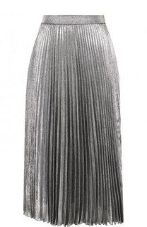 Однотонная плиссированная юбка-миди Christopher Kane