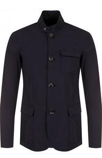 Приталенная куртка на пуговицах с воротником-стойкой Emporio Armani