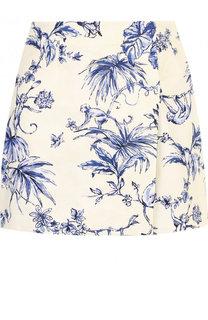 Хлопковая мини-юбка с принтом REDVALENTINO