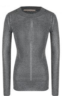Приталенный вязаный пуловер с круглым вырезом Christopher Kane