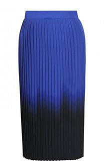 Плиссированная юбка-миди с эффектом деграде DKNY