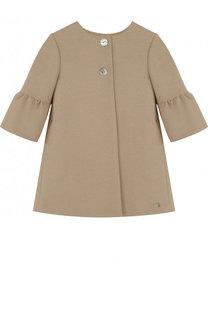 Пальто с расклешенными рукавами и круглым вырезом Tartine Et Chocolat