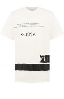 Хлопковая футболка с принтом Julius