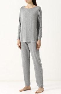 Однотонная пижама из смеси вискозы и эластана Hanro