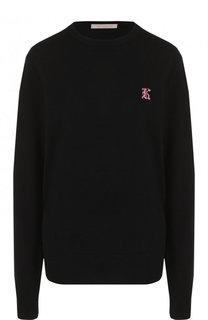 Однотонный кашемировый пуловер с круглым вырезом Christopher Kane