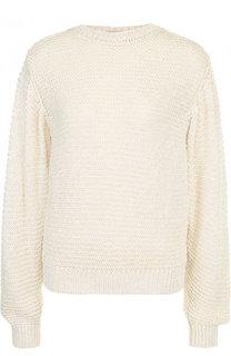 Пуловер фактурной вязки из смеси вискозы и хлопка Stella McCartney