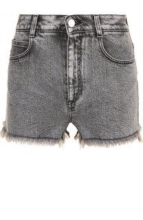 Джинсовые мини-шорты с потертостями Stella McCartney