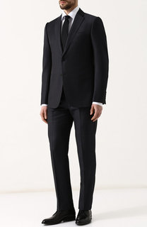 Шерстяной костюм с пиджаком на двух пуговицах Emporio Armani