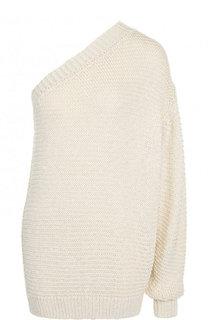 Пуловер асимметричного кроя из смеси вискозы и хлопка Stella McCartney