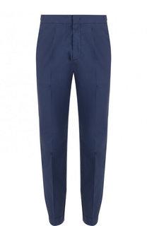 Хлопковые брюки с поясом и манжетами на резинке Z Zegna