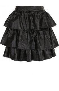 Многоярусная мини-юбка из эко-кожи Stella McCartney