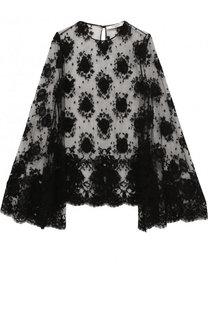 Полупрозрачная кружевная блуза свободного кроя Givenchy