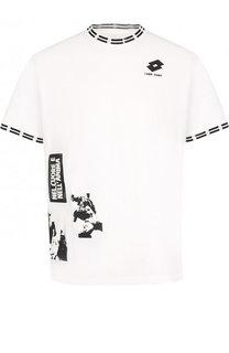 Хлопковая футболка с принтом Damir Doma x Lotto Damir Doma