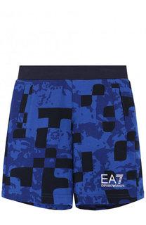 Хлопковые шорты с принтом Ea 7