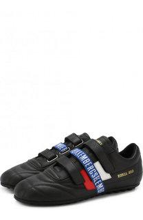Кожаные кроссовки с застежками велькро Dirk Bikkembergs