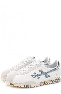 Комбинированные кроссовки Hattorid на шнуровке Premiata