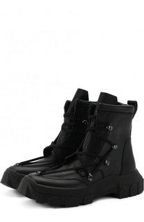Высокие кожаные ботинки на шнуровке Rick Owens