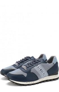 Комбинированные кроссовки на шнуровке Dirk Bikkembergs