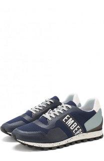 Текстильные кроссовки на шнуровке Dirk Bikkembergs