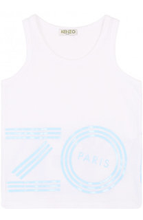 Хлопковая майка с логотипом бренда Kenzo