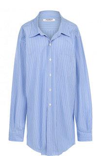 Удлиненная хлопковая блуза свободного кроя Junya Watanabe
