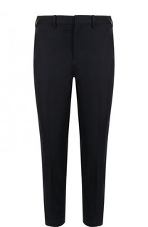 Укороченные брюки прямого кроя из смеси хлопка и льна Neil Barrett