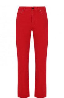 Однотонные укороченные джинсы прямого кроя Valentino