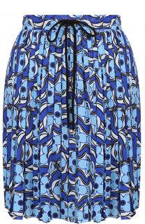 Плиссированная мини-юбка с принтом Markus Lupfer