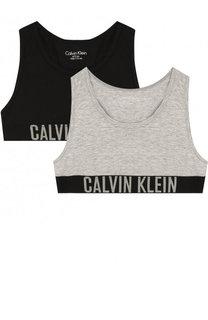 Комплект из двух спортивных бюстгальтеров с логотипом бренда Calvin Klein Underwear