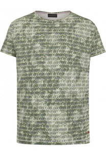Хлопковая футболка с принтом Baldessarini