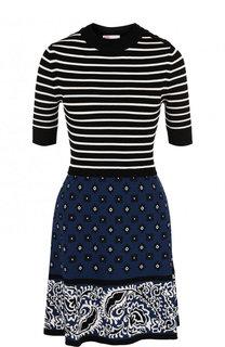Приталенное мини-платье из вискозы REDVALENTINO