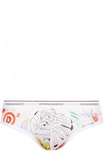 Хлопковые брифы с широкой резинкой Dsquared2