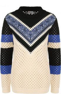 Хлопковый пуловер фактурной вязки REDVALENTINO