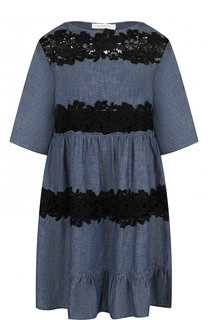 Хлопковое мини-платье с завышенной талией See by Chloé