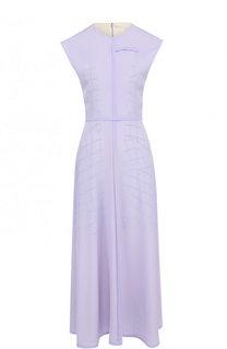 Приталенное шелковое платье-миди Victoria Beckham