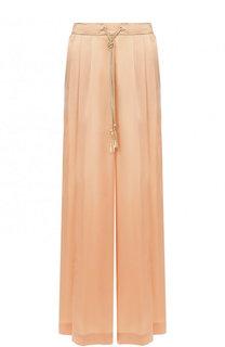 Однотонные шелковые брюки с эластичным поясом Forte_forte