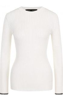 Приталенный пуловер фактурной вязки с круглым вырезом Proenza Schouler