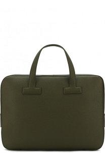 Кожаная сумка для ноутбука с плечевым ремнем Tom Ford
