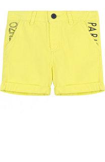 Хлопковые  шорты с отворотами Kenzo