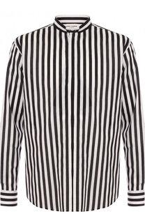 Хлопковая сорочка в контрастную полоску Saint Laurent