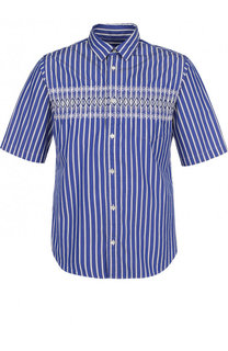 Хлопковая рубашка с короткими рукавами Sacai