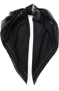 Шарф из смеси вискозы и шелка с принтом Givenchy